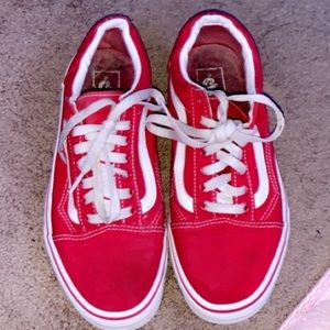 red vans (worn twice ) perfect condition!!